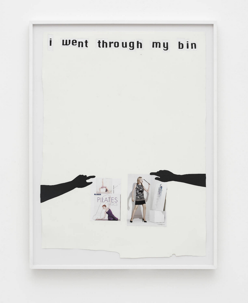 Frances Stark, I went through my bin (2008), collage on paper. 38 x 29 in. (96.5 x 73.7 cm). Courtesy of the artist and Galerie Buchholz, Berlin/Cologne.