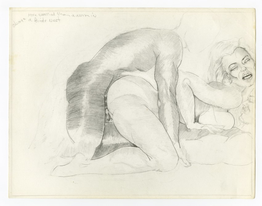 William Crawford, Untitled (1997). Graphite on paper, 8.5 x 11 in.