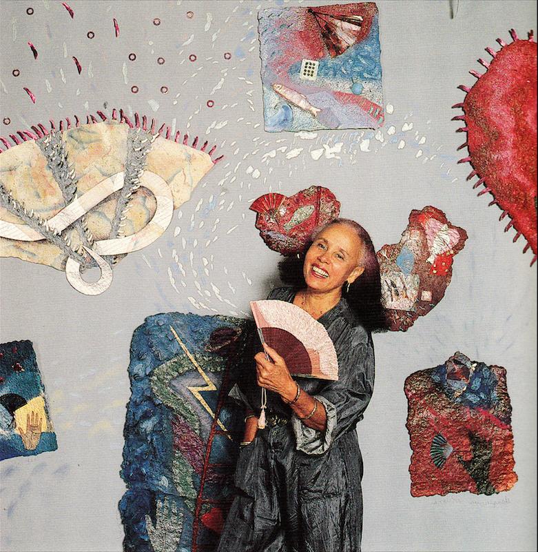 Betye Saar photographed by Marva Marrow. Inside the L.A. Artist. Salt Lake City: Peregrine Smith, 1988. Print.