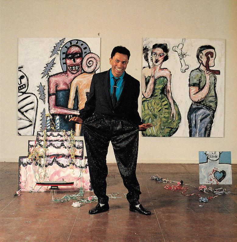 Gronk photographed by Marva Marrow. Inside the L.A. Artist. Salt Lake City: Peregrine Smith, 1988. Print.