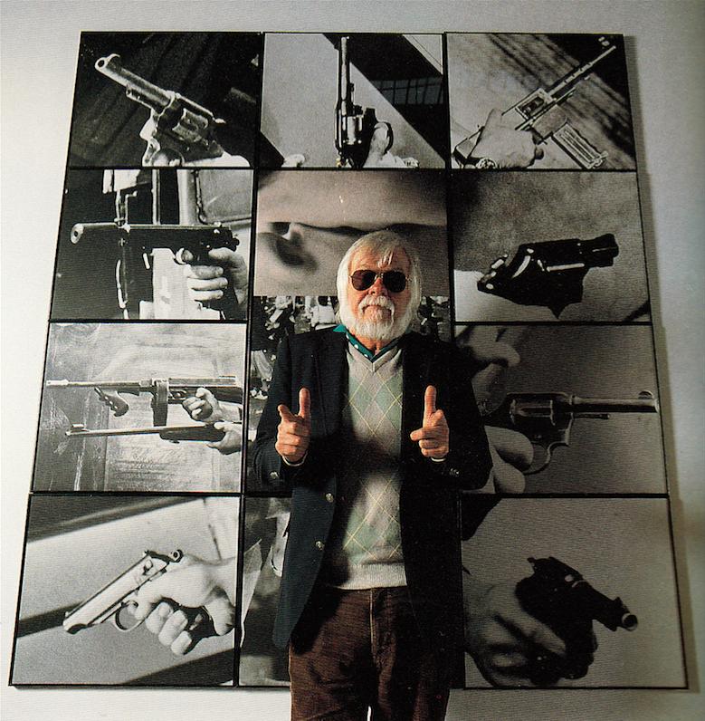 John Baldessari photographed by Marva Marrow. Inside the L.A. Artist. Salt Lake City: Peregrine Smith, 1988. Print.