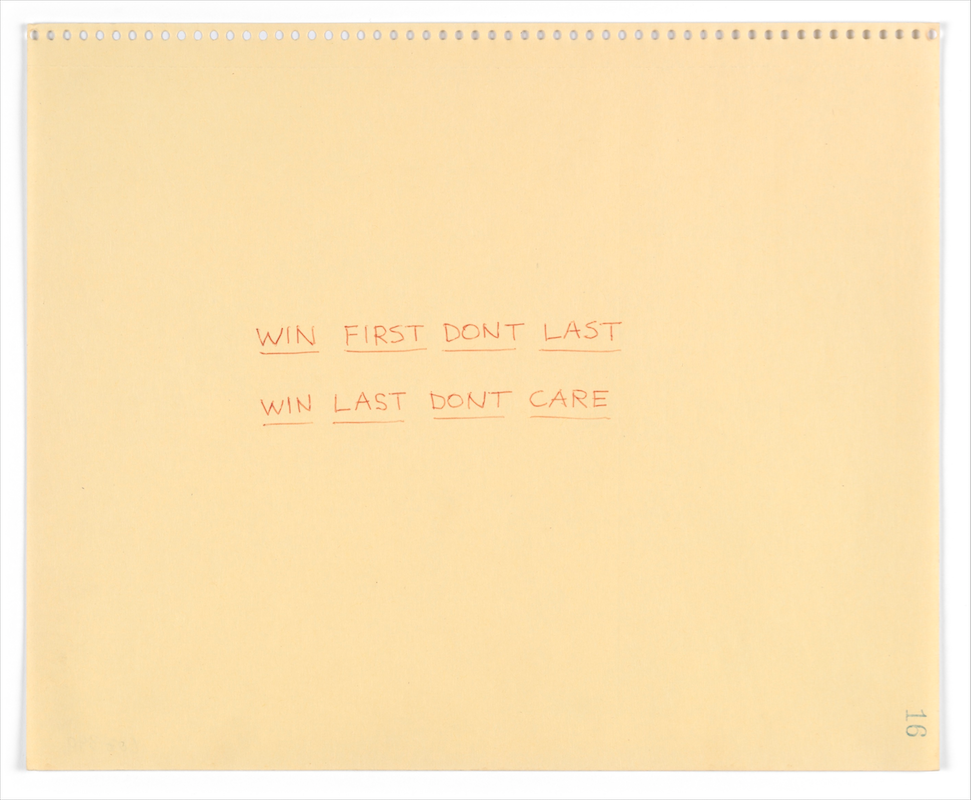 Lee Lozano, No title (1970). Ballpoint on paper, 9 x 11 inches. Image courtesy of The Estate of Lee Lonzano and Hauser & Wirth. Photo: Barbora Gerny.