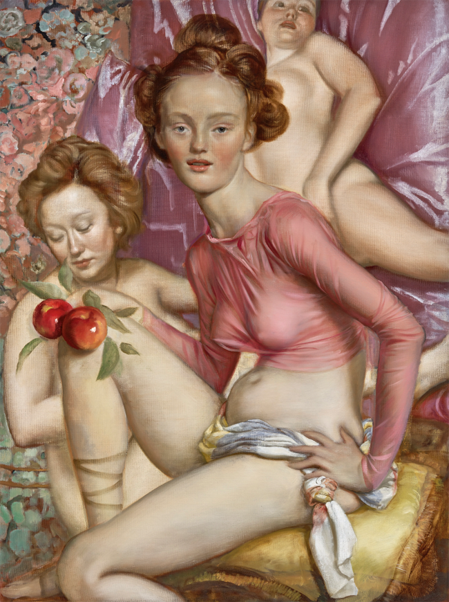 Maenads (2015). Oil on canvas, 48 x 36 inches. Image courtesy of the artist. Photo: Douglas M. Parker studio.