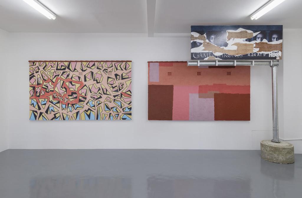 Pentti Monkkonen, MUR MURS (installation view) (2016). Image courtesy of Jenny's, Los Angeles. Photo: Jeff McLane.