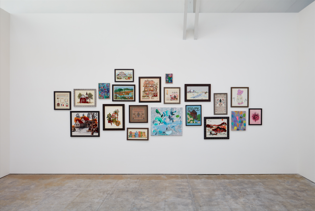 Laura Owens, Ten Paintings (detail) (2016). Image courtesy of the artist; Gavin Brown's enterprise, New York; Sadie Coles HQ, London; Galerie Gisela Capitain, Cologne. Photo: Johnna Arnold.