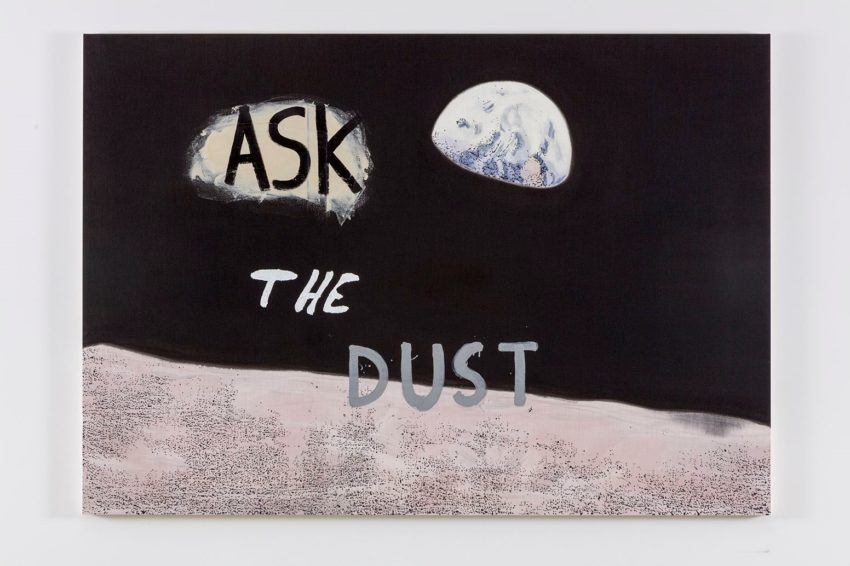 Nate Lowman, Ask the Dust (2016). Oil, alkyd and impasto medium on linen, 63 x 90 x 1.5 inches. Image courtesy of the artist and Maccarone New York and Los Angeles. Photo: Joshua White.