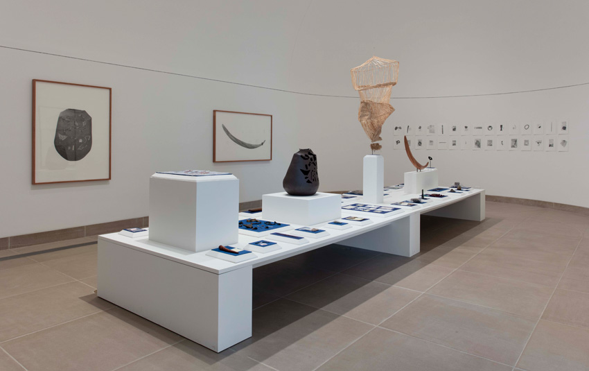 Gala Porras-Kim, Made in L.A. 2016: a, the, though, only (2016) (installation view). June 12–August 28, 2016, Hammer Museum, Los Angeles. Photo: Brian Forrest.
